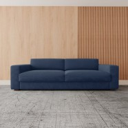 Imagem - Sofa Living 2 Lugares 180 Neo Mescla Azul Jeans cód: MKP000628076709