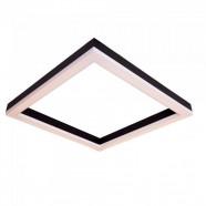 Imagem - Plafon LED 57cmx57cm 3000K Squadra Bella Italia 220V Preto cód: MKP000628077750
