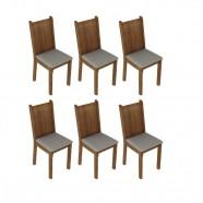 Imagem - Kit 6 Cadeiras Rustic Pérola Madesa4290 cód: MKP000631000092