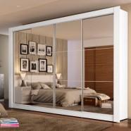 Imagem - Guarda-Roupa Casal Montana Branco 4 Portas de EspelhoMadesa cód: MKP000631000277