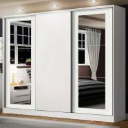 Imagem - Guarda-roupa Casal Eros 3 Portas de Correr com Espelhos Madesa cód: MKP000631001187