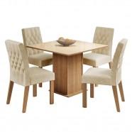Imagem - Conjunto Sala de Jantar Brenda Mesa 4 Cadeiras Madesa cód: MKP000631001520