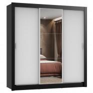 Imagem - Guarda Roupa 3 Portas de Correr com Espelho 2 Gavetas Madesa cód: MKP000631002219