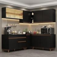 Imagem - Cozinha Completa De Canto Madesa Reims 382001 Preto cód: MKP000631002535