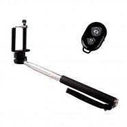 Imagem - Kit Bastão de Selfie Monopod com Controle Remoto Bluetooth - Preto cód: MKP000641000059