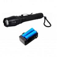 Imagem - Lanterna Led Longo Alcance T6 Ultra Forte Militar Tática 2 Baterias B8477 cód: MKP000641000205