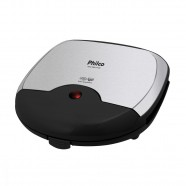Imagem - Mini Grill e Sanduicheira Inox Preto 750W Philco 220V cód: MKP000653000770