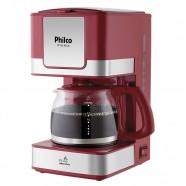 Imagem - Cafeteira Elétrica Inox Vermelho Philco 220V PH16 cód: MKP000653001043