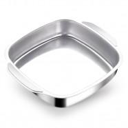 Imagem - Assadeira de Alumínio Quadrada 25 Cm Alumínio Nacional cód: MKP000683000002