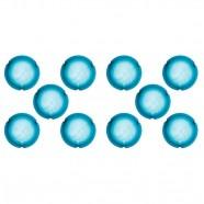 Imagem - Plafon Murano Vidro 2 Lâmpadas E-27 60w Azul Home Line Bivolt cód: MKP000732000184