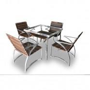Imagem - Conjunto de Fibra Sintética Atenas 4 Cadeiras + 1 Mesa cód: MKP000771000152