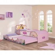 Imagem - Bicama Infantil Princesas Disney Fun - Pura Magia - Rosa cód: MKP000800000145