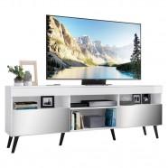 Imagem - Rack Tv 65 Com Espelho, Pés Retrô e 2 Portas Paris cód: MKP000888001843