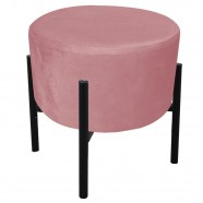 Imagem - Puff Iron Suede Base Palito D´rossi Rose cód: MKP000925002345