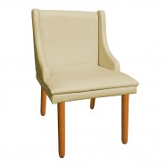 Imagem - Kit 6 Cadeiras de Jantar Corino Bege Pés Palito cód: MKP000925003946