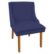 Imagem - Kit 8 Cadeiras de Jantar Suede Azul Marinho Pés Palito cód: MKP000925003969