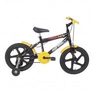 Imagem - Bicicleta Infantil Joy Mormaii Aro 16 Preta e Amarela cód: MKP000952000142