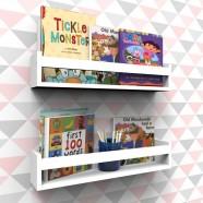 Imagem - Prateleira Montessoriana P/ Livros 40cm Branco C/ 2 Peças cód: MKP001008000579