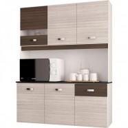 Imagem - Cozinha Compacta Suspensa 6 Portas Lili Amendoa Capuccino cód: MKP001027000852