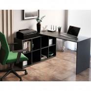 Imagem - Mesa para Computador com 8 Nichos Nero 1400 Artany Preto cód: MKP001027002569
