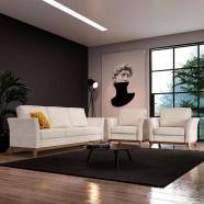Imagem - Sofá de 3 Lugares com Poltrona Casa de Pedra Bege Branco cód: MKP001027010682
