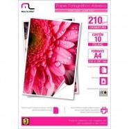 Imagem - Papel Fotográfico Multilaser Adesivo 210g/m2 A4 C/ 10 Fls Pe007 Padrão cód: MKP001028000047