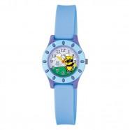 Imagem - Relógio Infantil Azul e Lilás Fundo Abelha Ponteiro Original cód: MKP001053000369