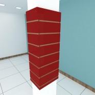 Imagem - Kit 4 Painel Canaletado para Pilar Vermelho Escuro 2 Peças cód: MKP001065006144