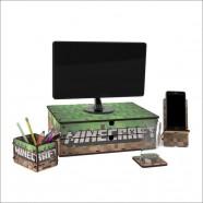 Imagem - Suporte Para Monitor 2 Gavetas Minecraft cód: MKP001249000019