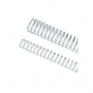 Imagem - Wire-o Garra Duplo 5/16 50 Folhas A4 3x1 Prata 100 Unidades cód: MKP001256003025