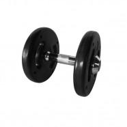 Imagem - Dumbbell Injetado Com Pegada Cromada Academia Fitness 10kg cód: MKP001256004497