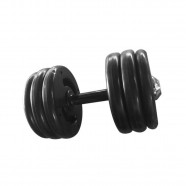 Imagem - Dumbbell Injetado Pegada Emborrachada Academia Fitness 22kg cód: MKP001256004506