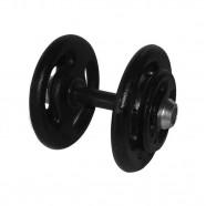 Imagem - Dumbbell Pintado Pegada Emborrachada Academia Fitness 22kg cód: MKP001256004518