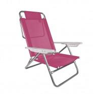 Imagem - Cadeira de Praia Reclinável Summer Pink Mor cód: MKP001300000010