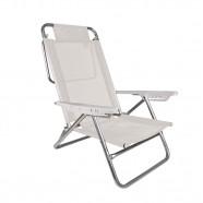 Imagem - Cadeira de Praia Reclinável Summer Branca Mor cód: MKP001300000094