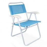 Imagem - Cadeira de Praia Master Aço Fashion Azul Mor cód: MKP001300000304