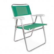 Imagem - Cadeira de Praia Master Alumínio Fashion Anis Mor cód: MKP001300000306