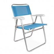 Imagem - Cadeira de Praia Master Alumínio Fashion Azul Mor cód: MKP001300000308