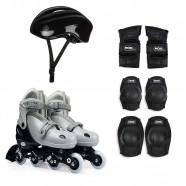 Imagem - Kit Roller Cinza M 34 37 Roller Joelheira Capacete Mor cód: MKP001300000763