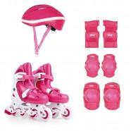 Imagem - Kit Roller Rosa M 34 37 Roller Joelheira Capacete Mor cód: MKP001300000765