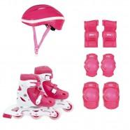 Imagem - Kit Roller Rosa P 30 33 Roller Joelheira Capacete Mor cód: MKP001300000766