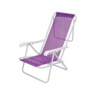Imagem - Cadeira De Praia Mor Reclinável Aço 8 Posições Lilás cód: MKP001300001101