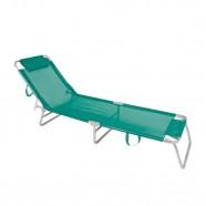 Imagem - Cadeira de Praia Espreguiçadeira Alumínio Mor Turquesa cód: MKP001300001330