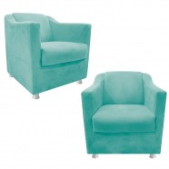 Imagem - Kit 02 Poltronas Decorativas Tilla Suede Tiffany Adj Decor cód: MKP001344000328
