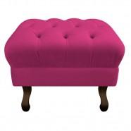 Imagem - Puff Retrô Luis Xv Suede Pink Adj Decor cód: MKP001344009191