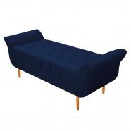 Imagem - Recamier Estofado Ari 140cm Casal Suede Azul Marinho cód: MKP001344013170