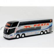 Imagem - Brinquedo Ônibus em Miniatura Viação Prata 30cm cód: MKP001383000310