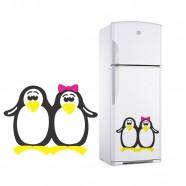 Imagem - Adesivo Decorativo de Geladeira e Parede Casal de Pinguim cód: MKP001429000114