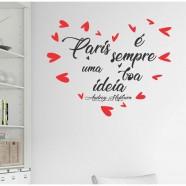 Imagem - Adesivo Decorativo de Parede Frase ´´paris é Sempre...´´ cód: MKP001429000221