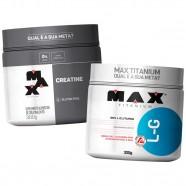 Imagem - Kit Glutamina 300g mais Creatina 300g Max Titanium cód: MKP001541000643